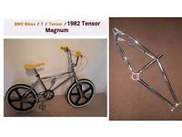 Chrome BMX Bike Frame - Old School 1982 Tensor Magnum - PLEASE READ