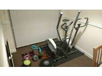 Home gym deal - exercise bike - cross trainer