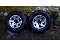 2x Mitsubishi L200 Wheels and Tyres
