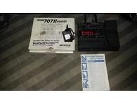 ZOOM 707 mk11 GUITAR EFFECTS PROCESSOR + Manual & 64 Mb Smart Media Card