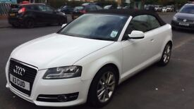 Audi A3 convertible white mint condition private reg plate cheap to run low mileage