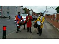 The Bhangra Dhol players
