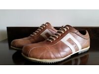 Next Mens Leather Retro Trainers Size 10 ***can courier UK + £2.80***