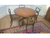 Reproduction Regency John Lewis extendable dining table (PLUS 6 FREE chairs ) ANY REASONABLE OFFER