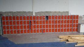 5 Bays of Red Lockers ,8 lockers per bay