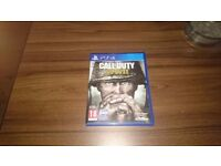 Ps4 call of duty ww2,mint condition