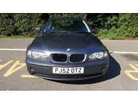 DEC 2002 BMW 320d 2.0 SE. FULL MAIN DEALER SERVICE HISTORY. 12 MONTHS MOT,NO ADVISORIES.