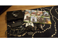 XBox 360 with controllers and Games. 120Gb HDD
