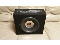 CAR SUBWOOFER CALIBER 1000 WATT 12 INCH SPEAKER WITH ENCLOSURE BASS BOX SUB WOOFER