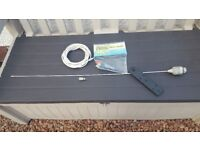 VHF Arial, Mast Bracket, Bulk Head Fitting and cable with Connections Boat/Yacht