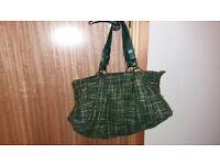 cute accessorize green tones zipped handbag