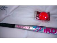 Slazenger hockey stick and ball. Brand new and never used!!!!!!!!!