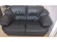 (Free) black leather sofa