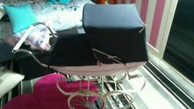 Silver cross Doll's PRAM. With Matching Bag