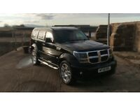 "Dodge nitro 2.8d 4x4 RHD 2008 77k immaculate condition loads of history years mot 20"" alloys. Not x5"