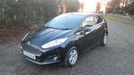 2013 (63) FORD FIESTA TITANIUM ECONETIC 1.6 TDCi 5 dr BLACK FSH, MOT SEPT 2017, ONE OWNER FROM NEW