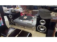 Sony record player and amp