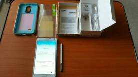 BARGIN SAMSUNG GALAXY NOTE 4 IN WHITE UNLOCKED BOXED PERFECT