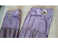 John Lewis Purple Faux Silk Curtains 136x136cm Excellent Condition £15