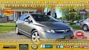 2008 Honda Civic Ex-l-$56W- Leather- Sunroof- Cd with Aux input London Ontario image 1