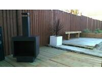 Ambient fireplace chimnea wood burning stove for patio/garden
