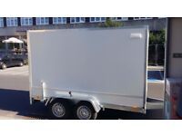 New Twin axle box van trailer twin axle with brakes - Only £3000 + vat