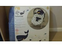 whale themed baby bouncer / rocker