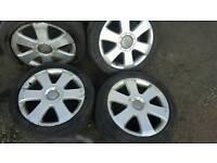 17inch 5x112 audi genuine alloys rims wheels fit vw passat sharan caddy van touran jetta etc