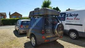 Land rover freelander expedition trailer with roof tent