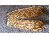 New Genuine British Army Desert Camo Gortex Jacket & Trouser Set Large
