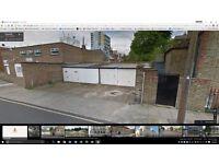 Lock up garage for rent in Petworth St, Battersea, just off Albert Bridge Road