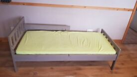 IKEA Bed frame with slatted bed base MYGGA + Mattress + Bedsheet - Perfect for Kids! 70*160 !!!!!