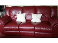 Leather sofa. recliner