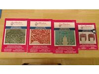 Spellbinders embossing folders in excellent condition for card making scrapbooking