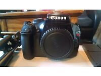 CANON EOS 1100D DIGITAL CAMERA PLUS 3 LENSES ,TRIPOD AND CAMERABAG.