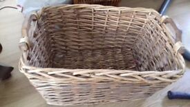 Wicker basket (laundry, logs, storage, etc.)