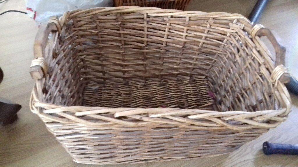 Wicker basket (laundry, logs, storage, etc.)