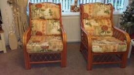 Set of 2 conservatory chairs for sale