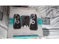Logitech Z323 2.1 Speakers with subwoofer ideal for pc, laptop, mobile phone £10