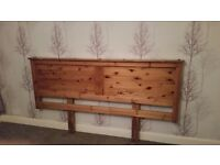 A pine headboard for super kingsize bed. Excellent condition.
