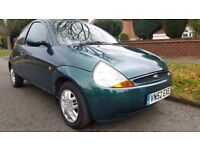 2002 Ford KA Collection 1.2, 12 Months MOT, 64,000 Miles ONLY, *Rare Electric Roof/Hood*, ONE Owner