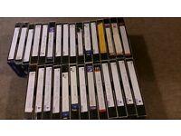 29x VHS Tapes Films Videos