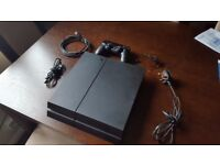 PS4 SLIM 500GB Genuine 1 Pad, Headset, All wires ( Playstation 4 )