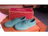 Size 5 turquoise Vans brand new