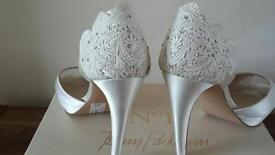 Lovely cream wedding shoes