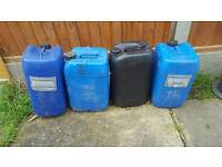 25 litre plastic can container oil water etc