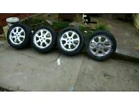 4 alloy wheels for Vauxhall astra or corsa