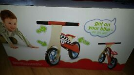 Balance bike unopened. Boys bike