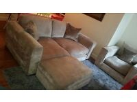 Sofa, armchair and footstool - £400