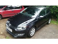 2010 Volkswagen Polo Moda 3dr black 1.2 petrol lovely car